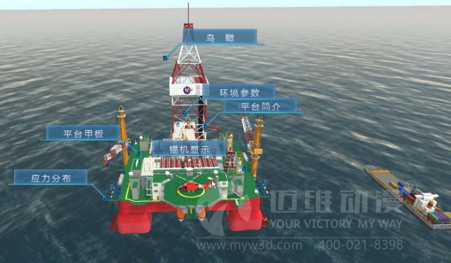 海洋深水试验池虚拟仿真