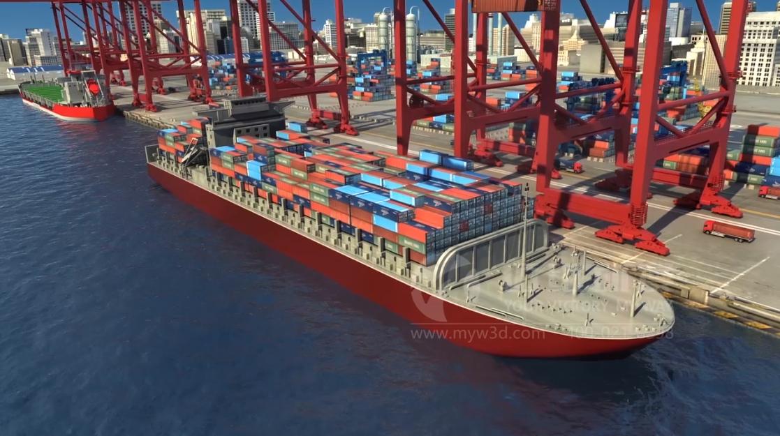 船舶压载水处理系统原理三维动画
